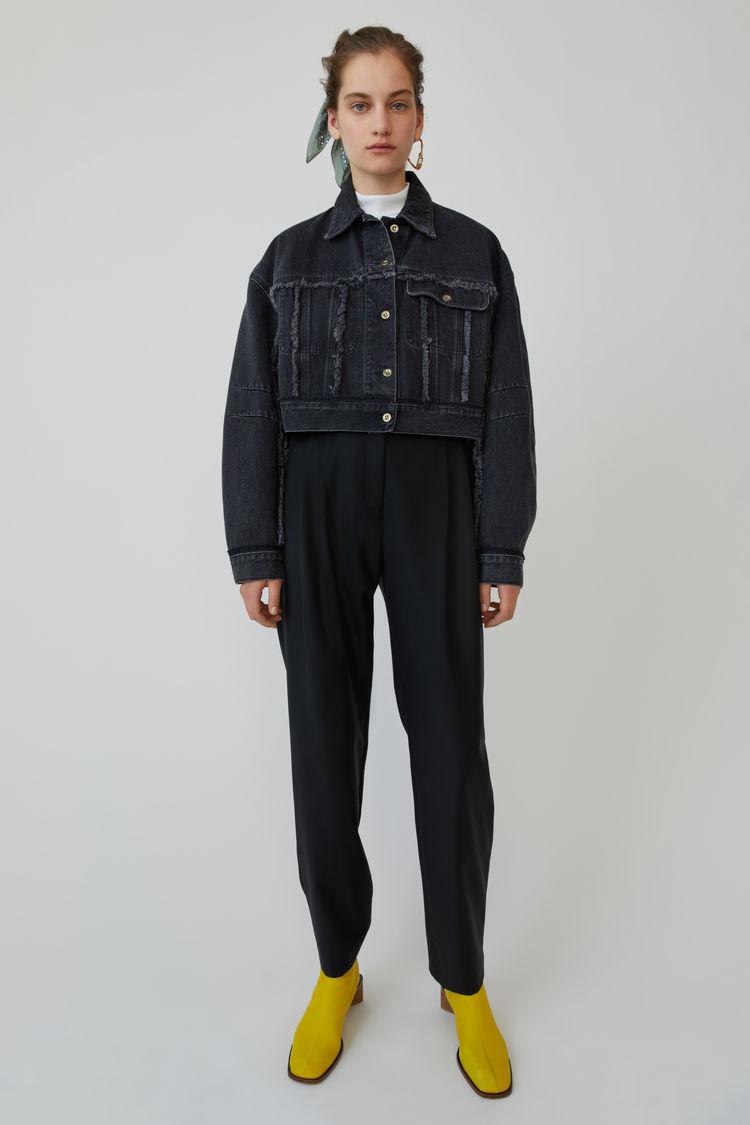 아크네 스튜디오 데님 자켓Acne Studios Cropped denim jacket used black