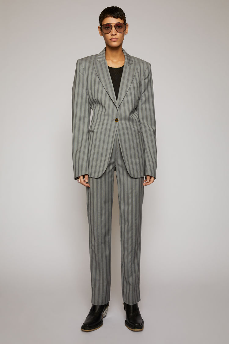아크네 스튜디오 Acne Studios Pinstriped suit jacket light grey