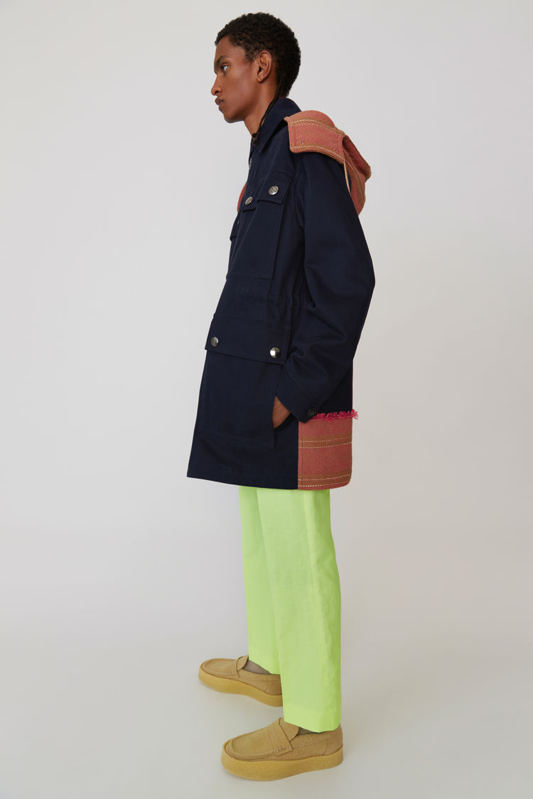Acne Studios - Hooded parka Navy blue - 4