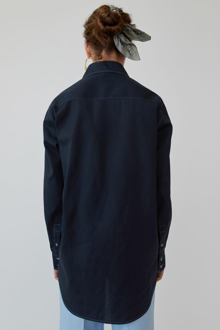 Acne Studios - Long-sleeved shirt Navy blue - 3