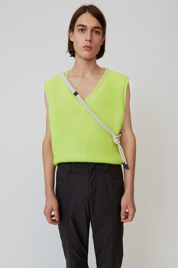 Acne Studios - Sweater vest Fluo yellow - 1