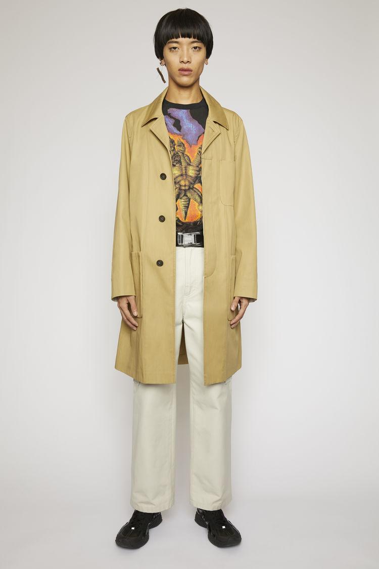 아크네 스튜디오 Acne Studios Twill trench coat mushroom beige