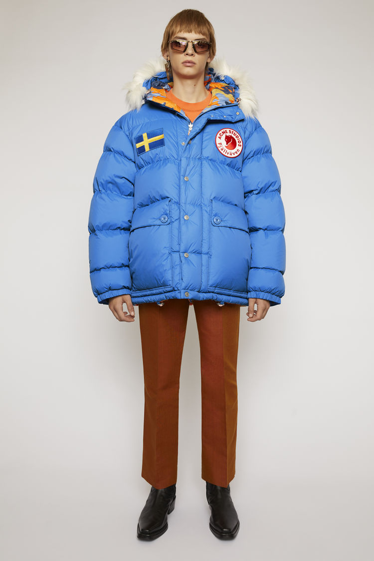 아크네 스튜디오 Acne Studios Reversible down jacket blue