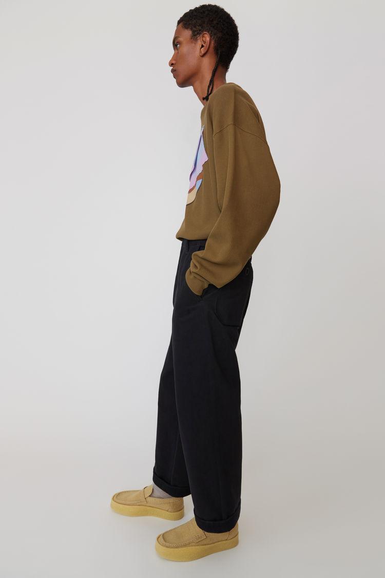 Acne Studios - Cotton trousers Black - 4