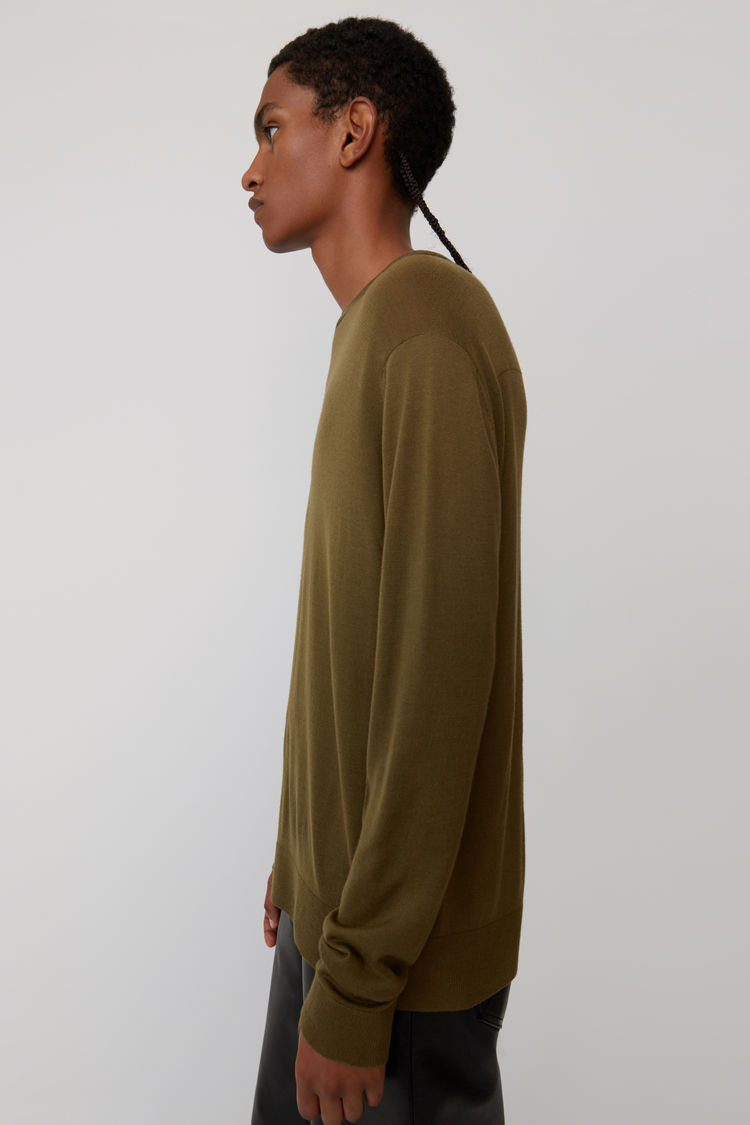 Acne Studios - Classic sweater Olive green - 4
