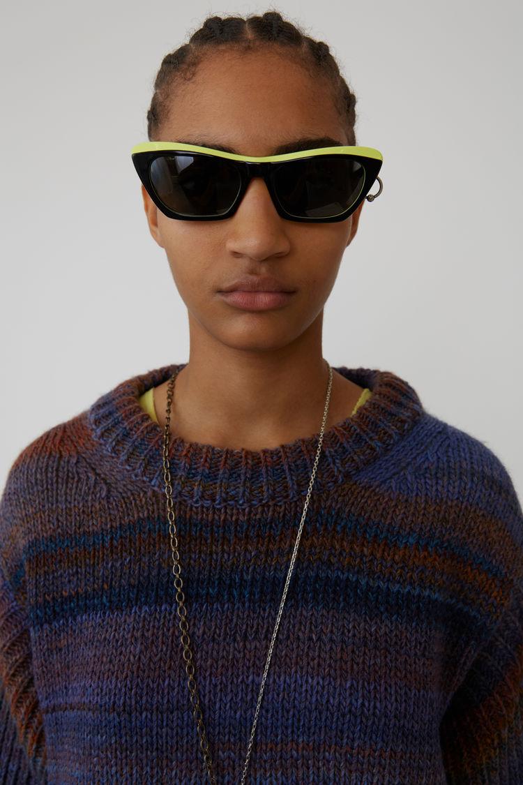 Acne Studios - Chunky striped sweater Rust/blue - 2