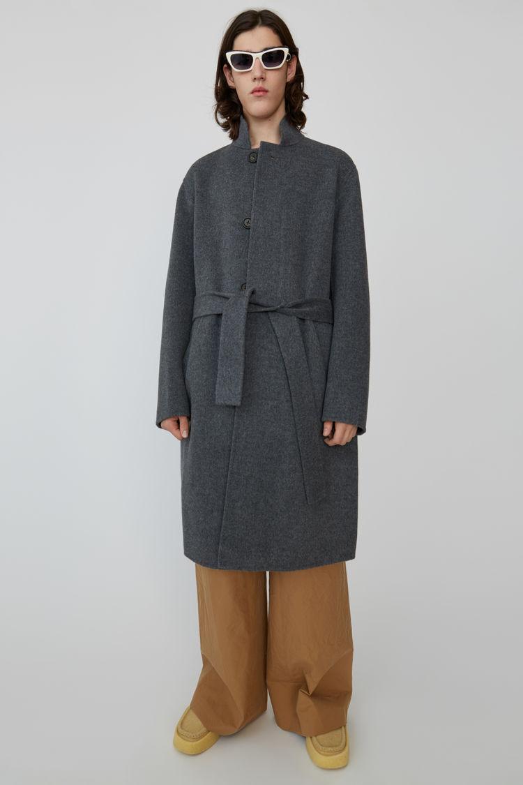 Acne Studios - Slim Cashmere blend coat Medium grey melange - 1