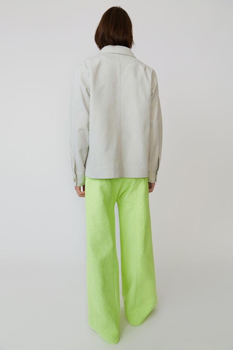 Acne Studios - Cotton jacket Cold white - 3