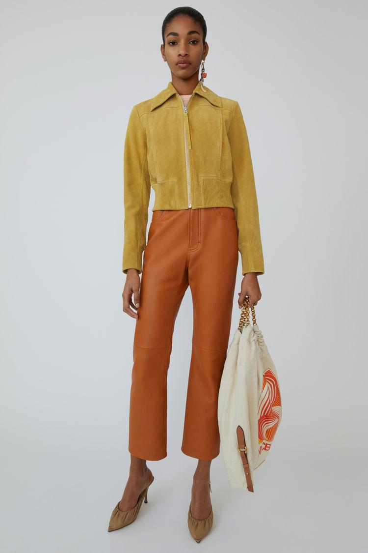 아크네 스튜디오 자켓 Acne Studios Suede jacket mustard yellow