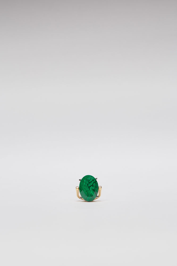 아크네 스튜디오 Acne Studios Faceted stone ring green