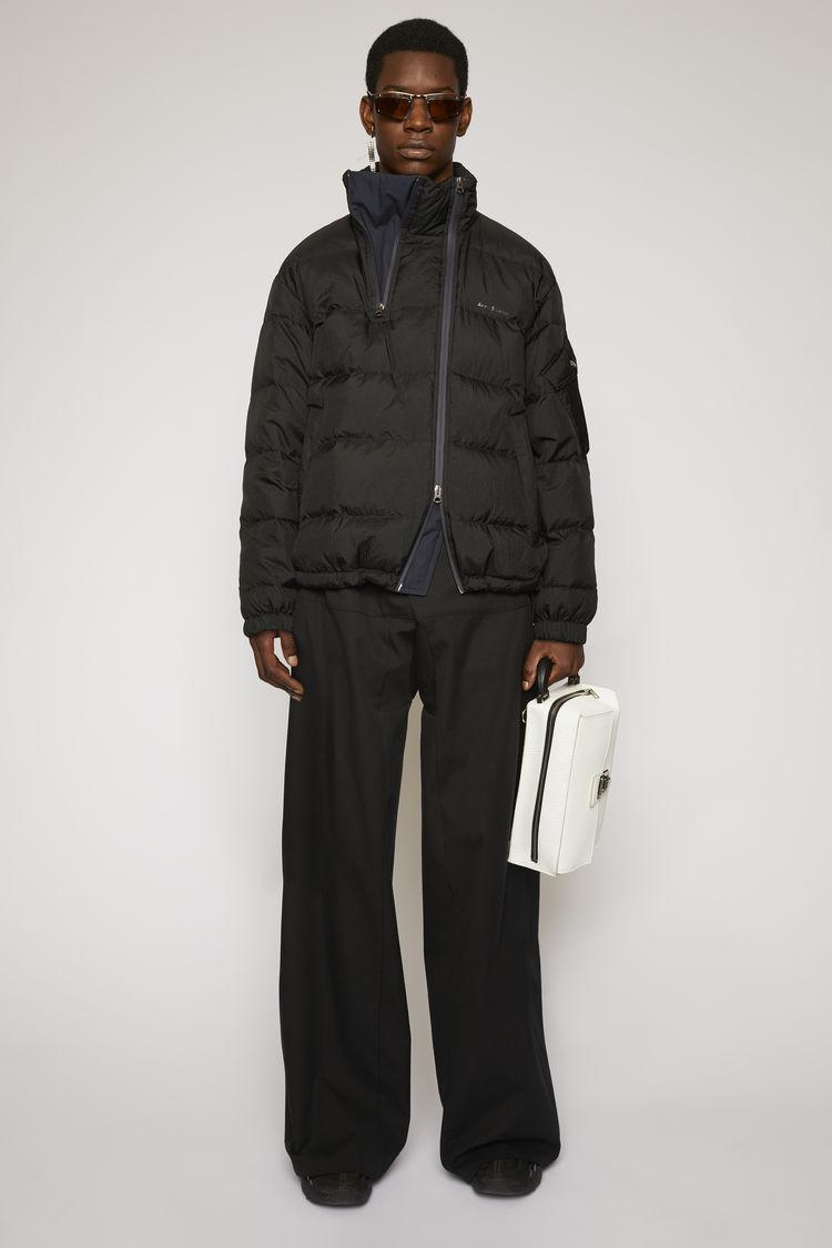 아크네 스튜디오 Acne Studios Double-zip down jacket black