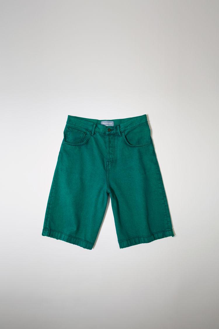 아크네 스튜디오 Acne Studios Denim shorts jade green