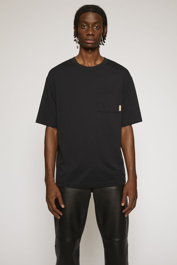 아크네 스튜디오 Acne Studios Boxy fit t-shirt black