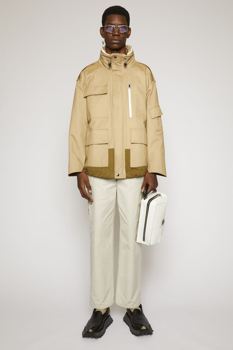 아크네 스튜디오 Acne Studios Cotton-twill field jacket mushroom beige/taupe grey