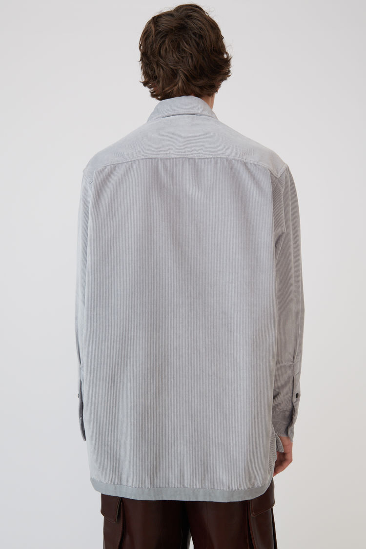 Acne Studios - Corduroy shirt Light grey - 3