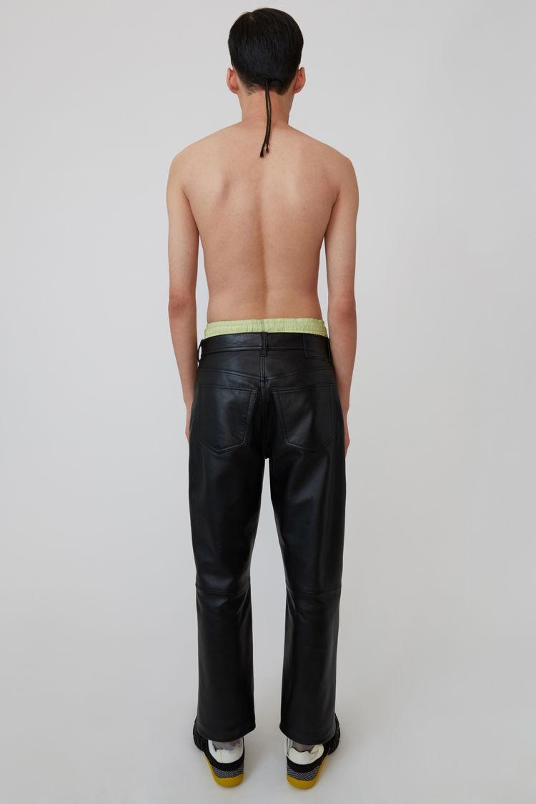 Acne Studios - Leather pants Black - 3