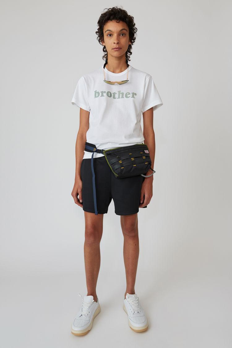 Acne Studios - T-Shirt mit Print Optisches Weiß - 1