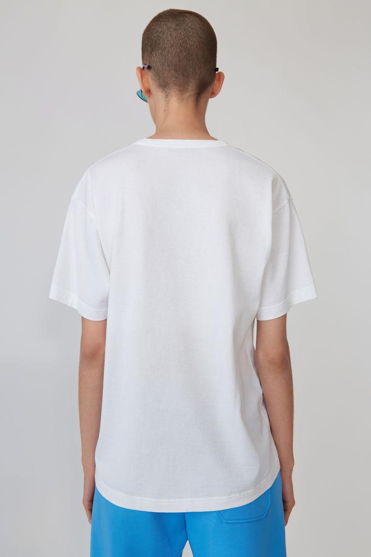 Acne Studios - T-Shirt mit Print Optisches Weiß - 3