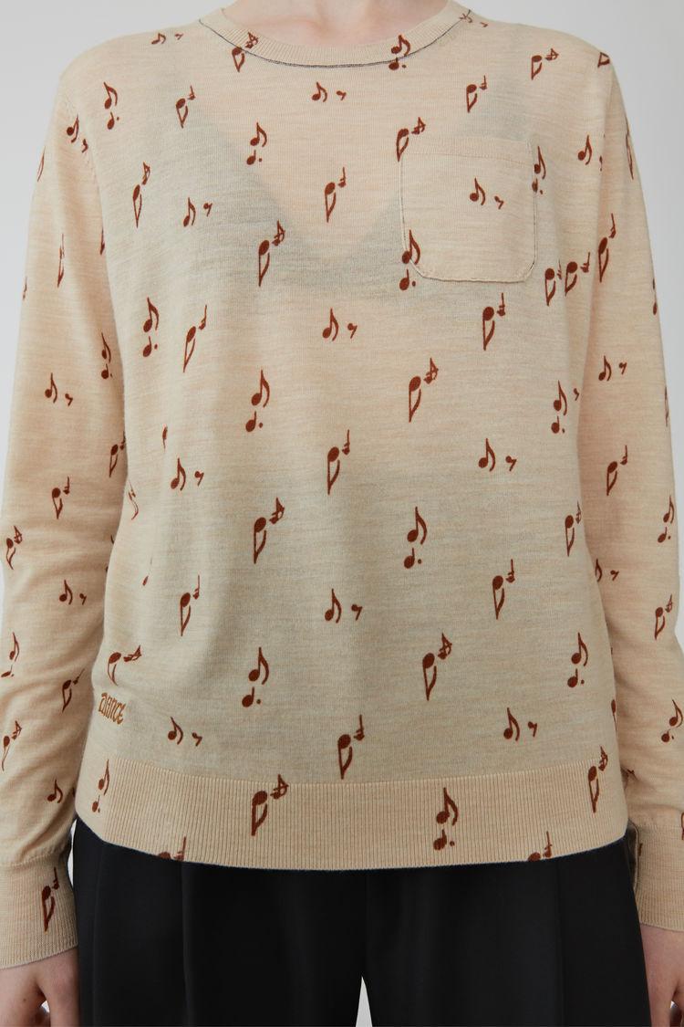 Acne Studios - Patterned sweater Beige melange - 5