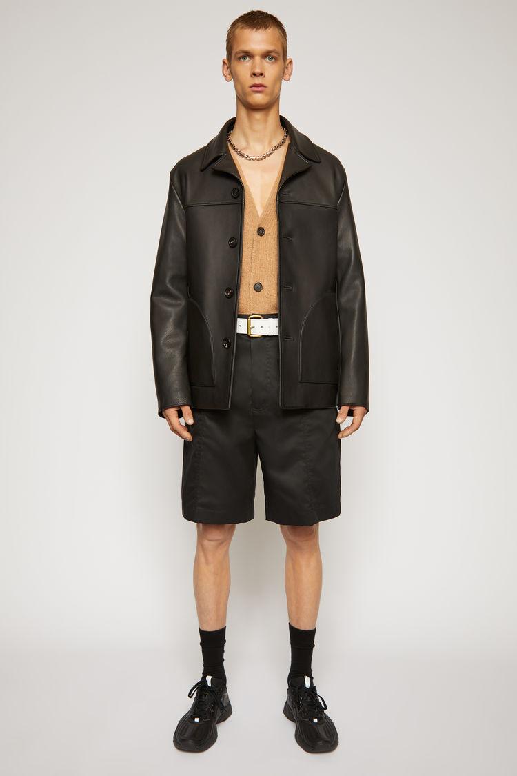 아크네 스튜디오 Acne Studios Straight leather jacket black