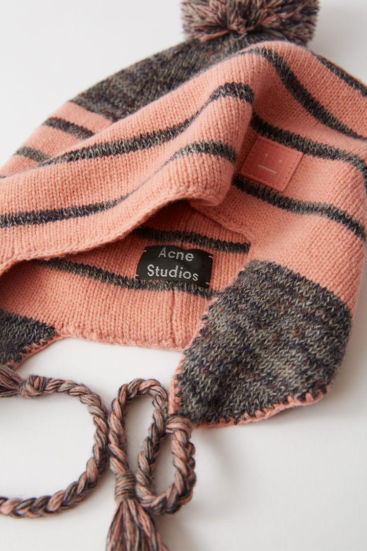 Acne Studios - Beanie im peruanischen Stil Braun/Rosa - 4