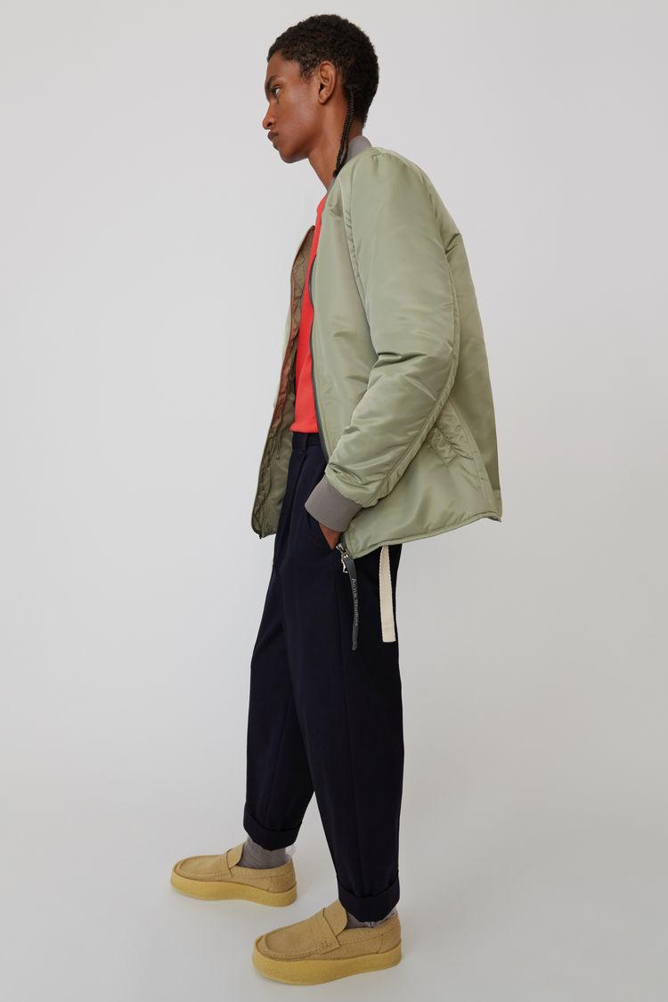 Acne Studios - Cuffed, cropped trousers Dark Blue - 4