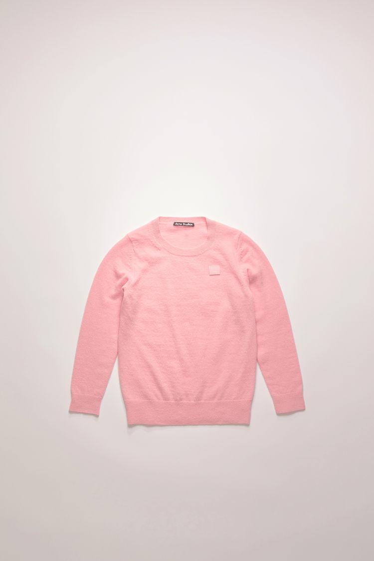 아크네 스튜디오 아동 스웨터 페이스 로고 Acne Studios Mini face patch sweater blush pink