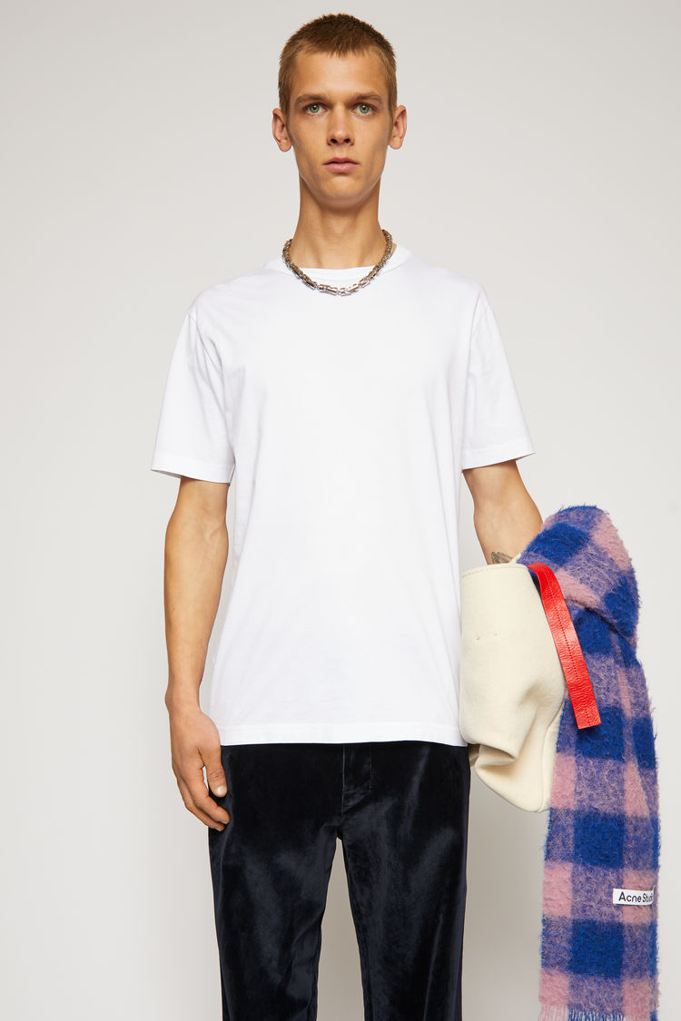 아크네 스튜디오 Acne Studios Slim fit t-shirt optic white