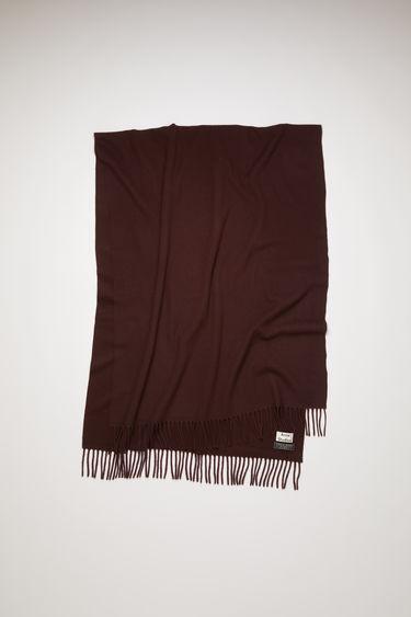 아크네 스튜디오 캐나다 머플러 오버사이즈 - 다크 와인 Acne Studios Oversized fringed scarf