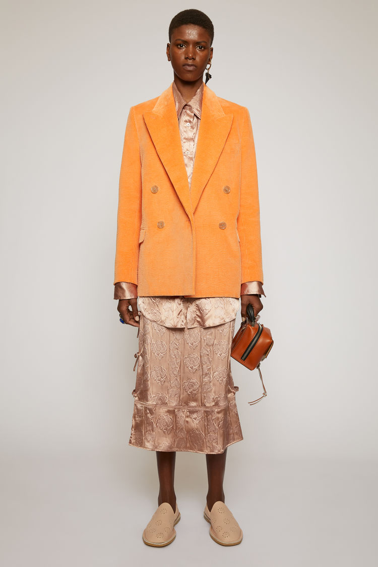아크네 스튜디오 Acne Studios Corduroy suit jacket peach orange