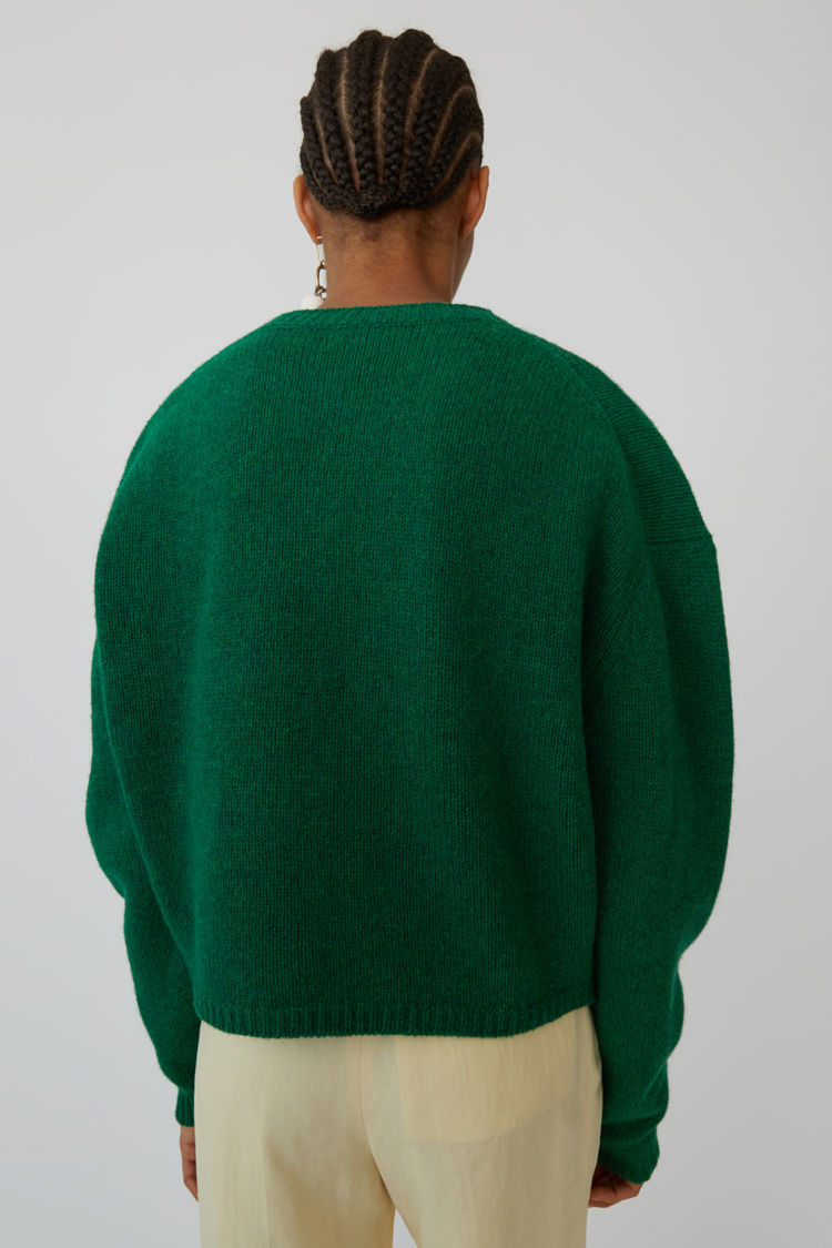 Acne Studios - Music note sweater Green/black - 3