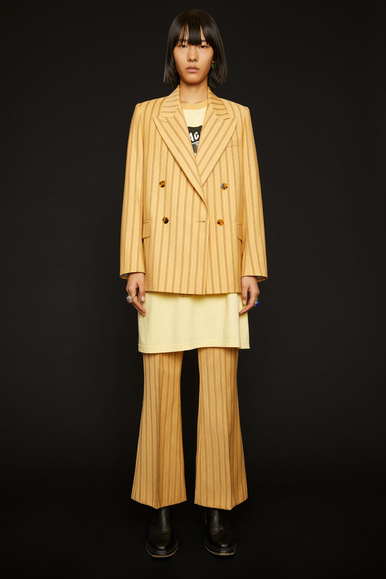 아크네 스튜디오 Acne Studios Double-breasted pinstripe jacket pale orange