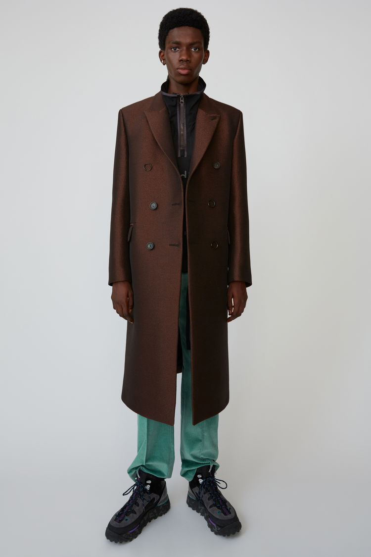 아크네 스튜디오 Acne Studios Double breasted coat bronze/charcoal