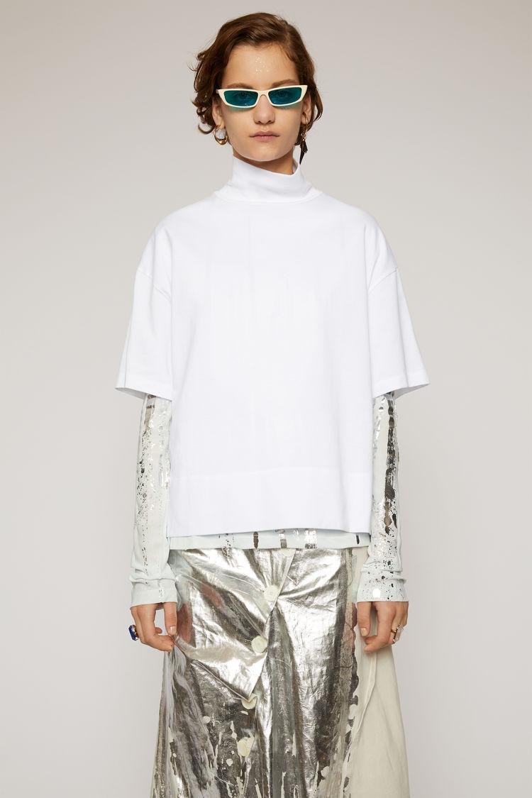 Acne Studios - Mock neck t-shirt Optic White - 1