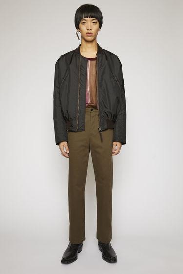 아크네 스튜디오 Acne Studios Cotton twill trousers forest green