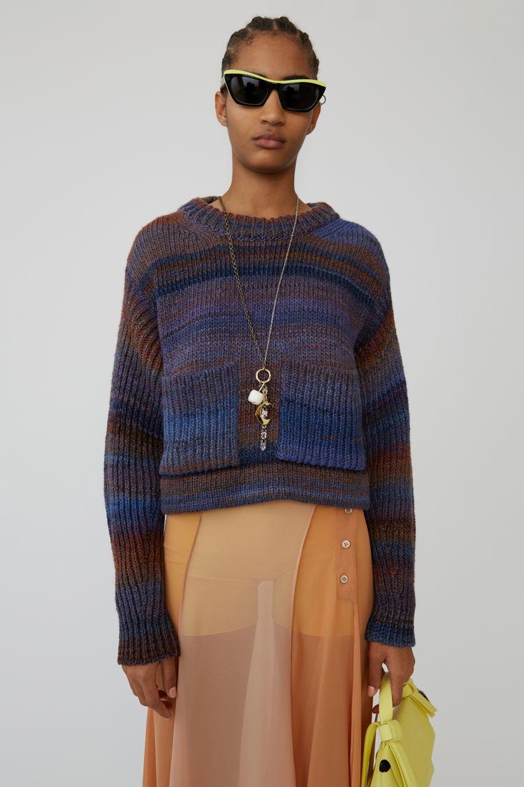 Acne Studios - Chunky striped sweater Rust/blue - 1