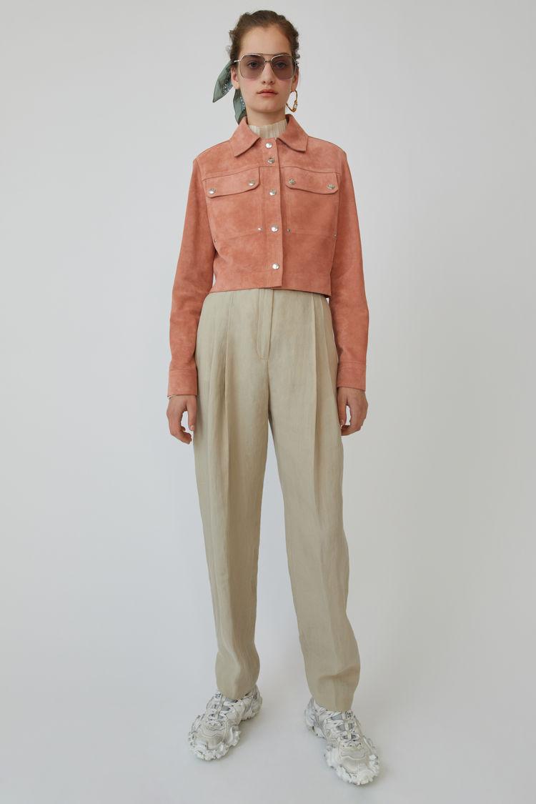 아크네 스튜디오 자켓 Acne Studios Cropped suede jacket pink