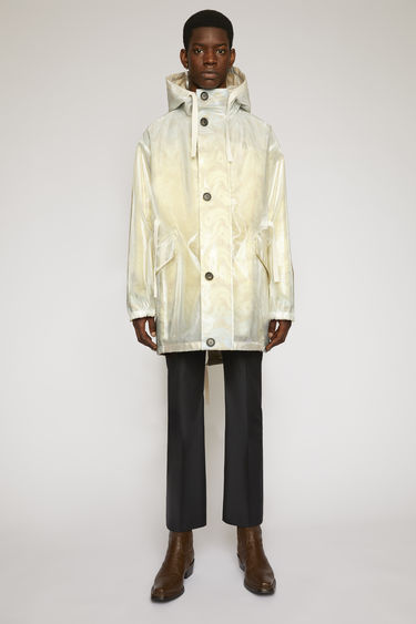아크네 스튜디오 Acne Studios Jacquard fishtail parka beige/light blue