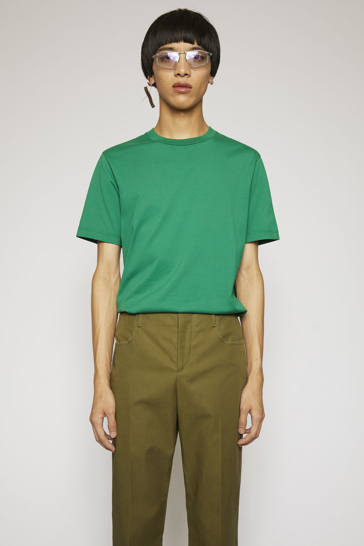 아크네 스튜디오 Acne Studios Slim fit t-shirt moss green