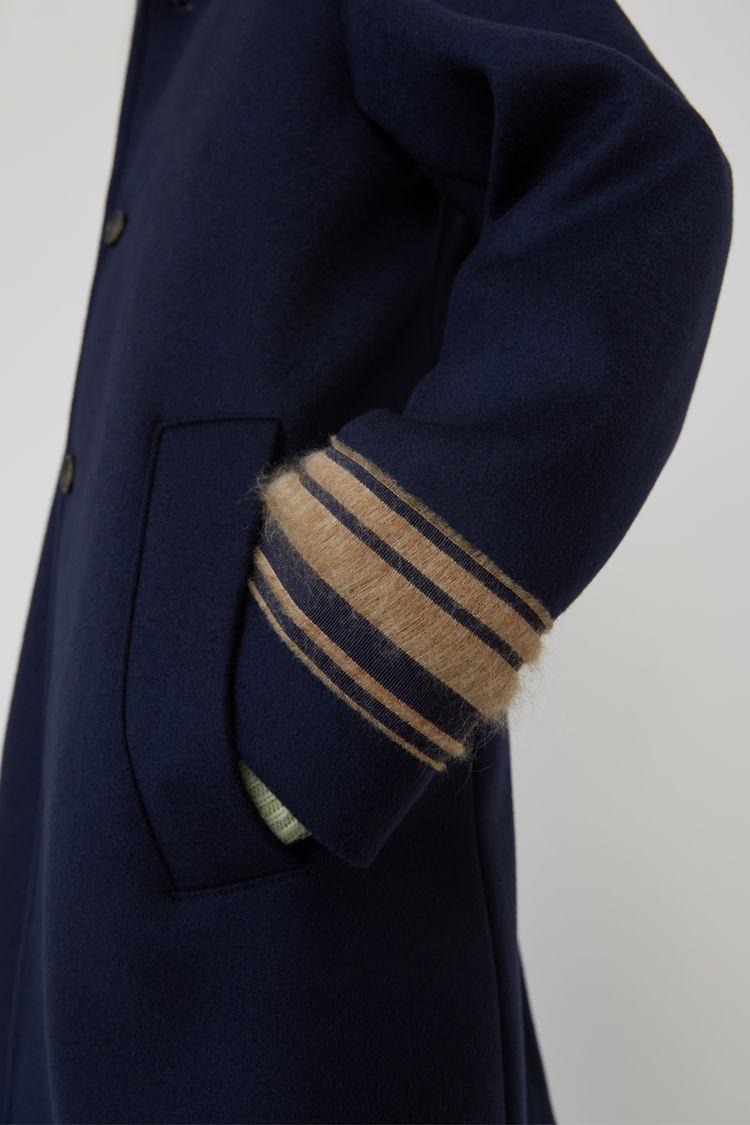 Acne Studios - Wool coat Navy blue - 6