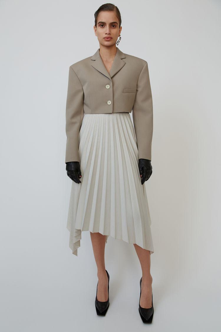 아크네 스튜디오 Acne Studios Asymmetrical skirt white/mauve
