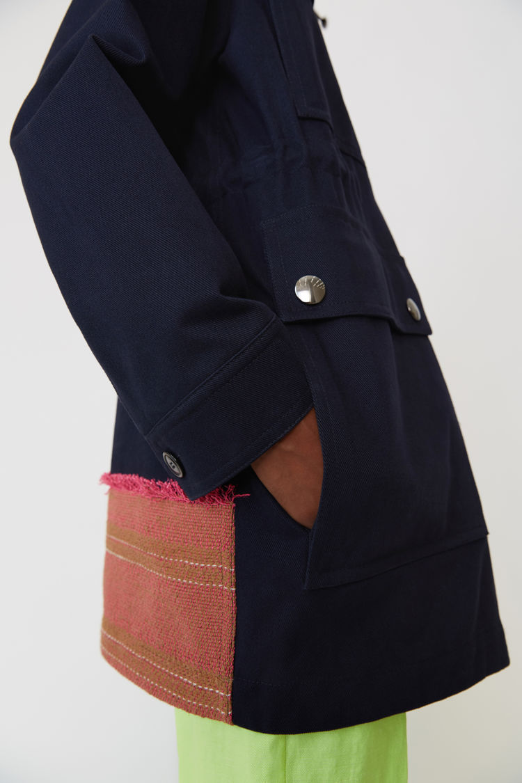 Acne Studios - Hooded parka Navy blue - 6