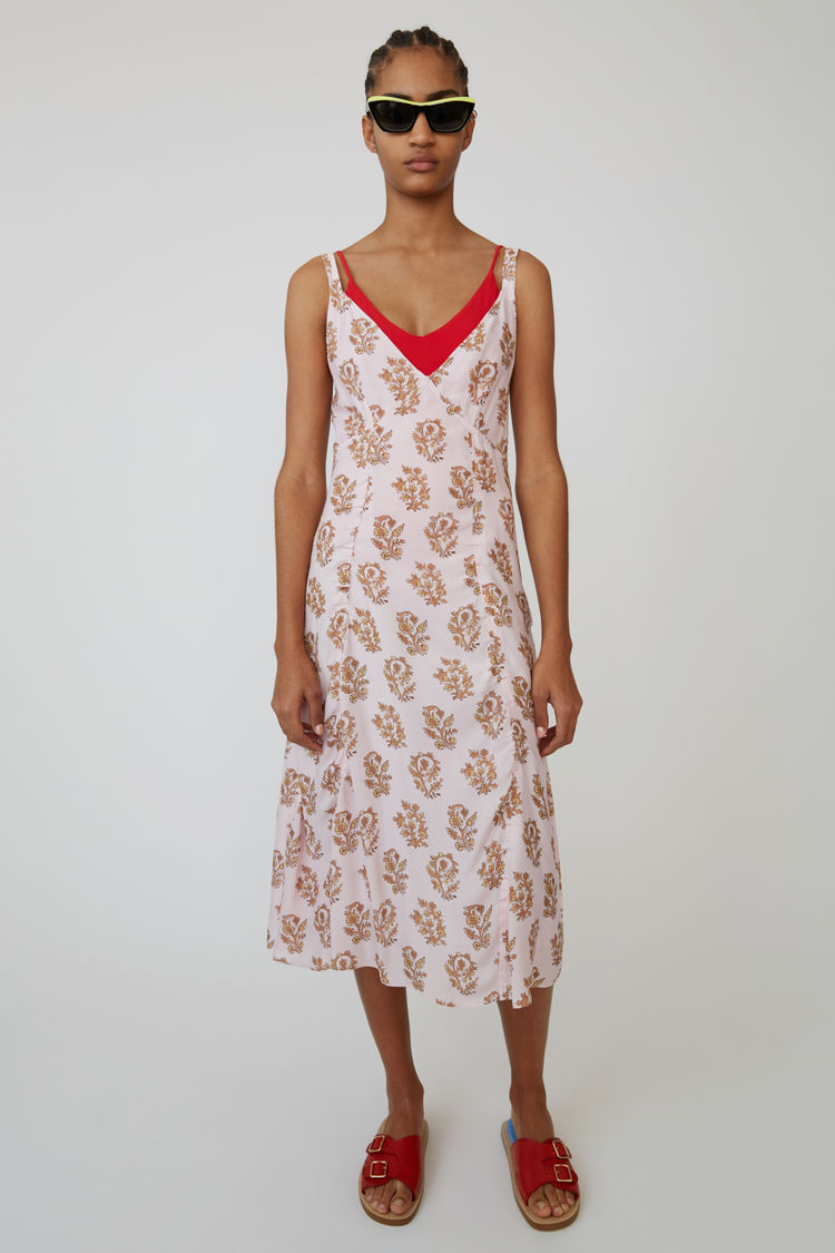 Acne Studios - Slip dress Pink/orange - 1