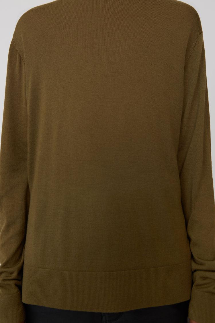 Acne Studios - Classic sweater Olive green - 5