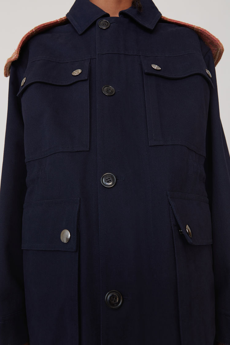 Acne Studios - Hooded parka Navy blue - 5