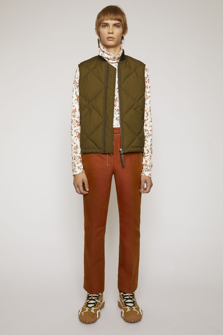 아크네 스튜디오 Acne Studios Bootcut trousers apricot orange