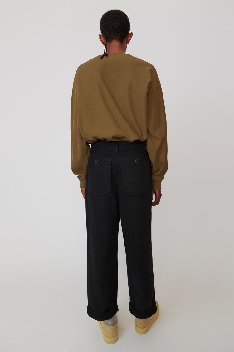 Acne Studios - Cotton trousers Black - 3