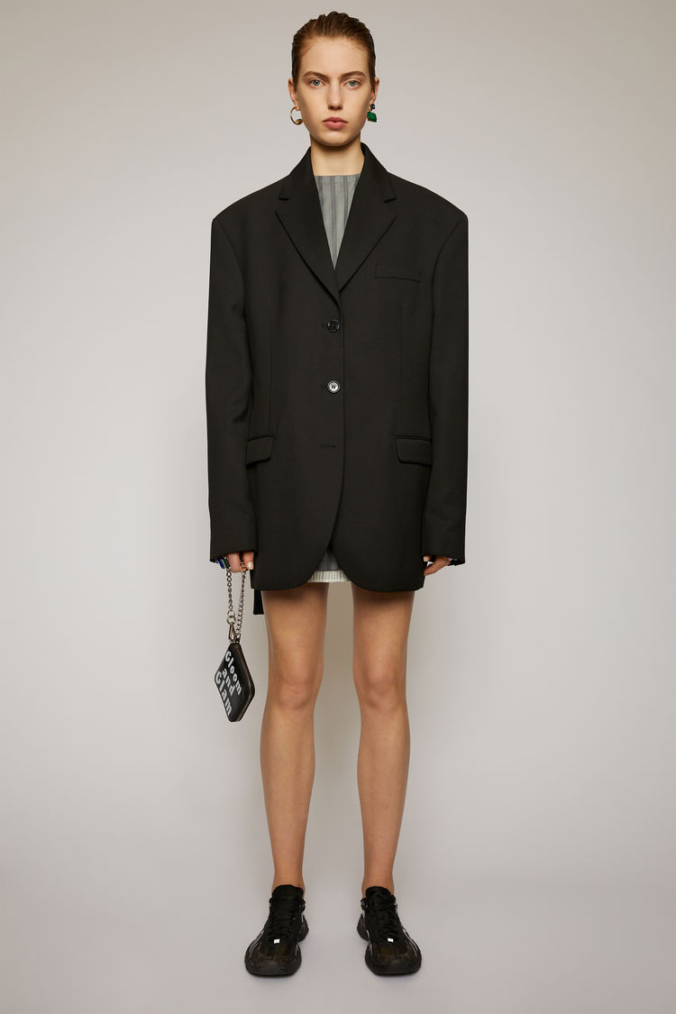 아크네 스튜디오 Acne Studios Single-breasted suit jacket black