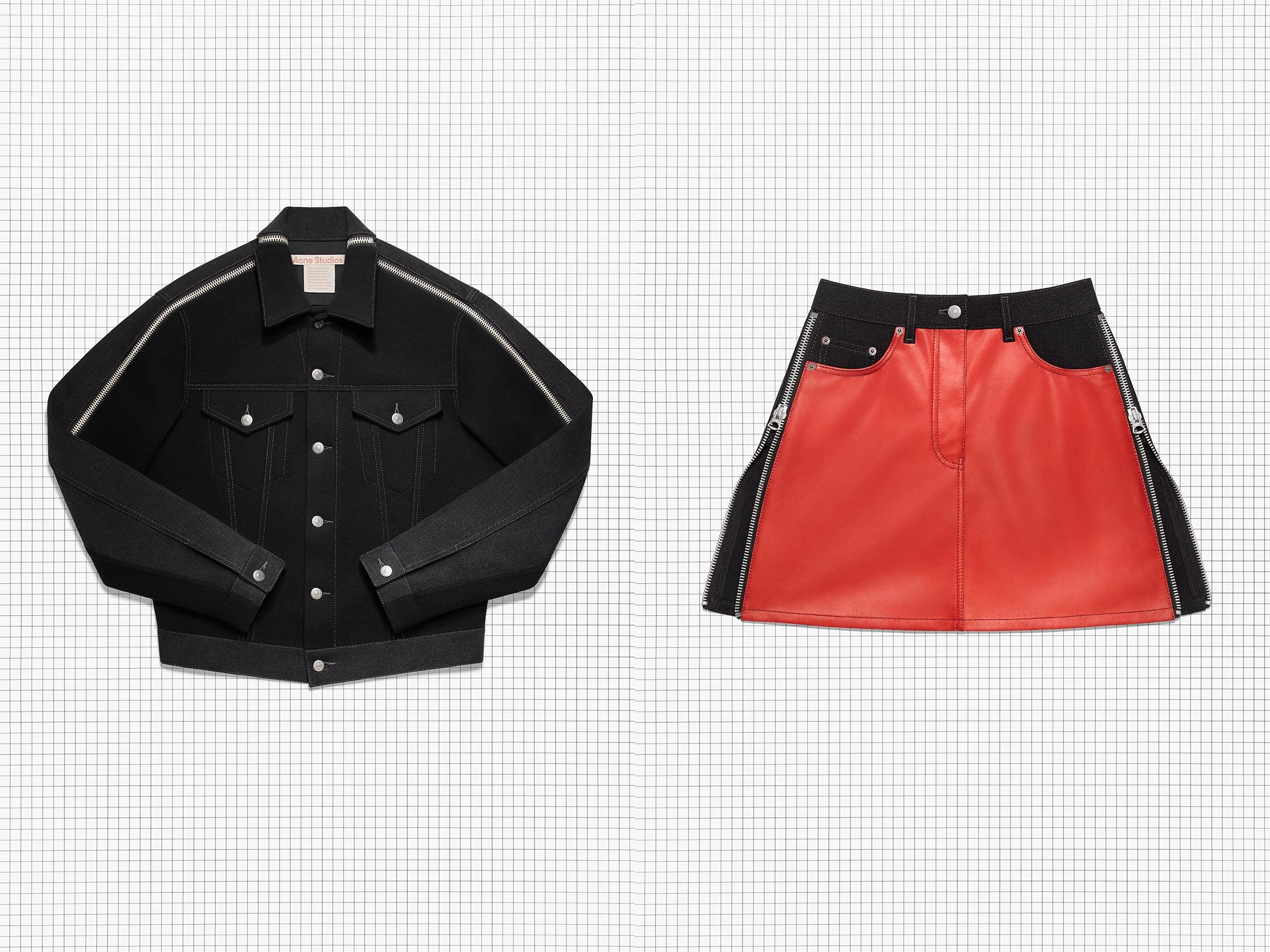 选购再利用面料系列皮革与丹宁设计