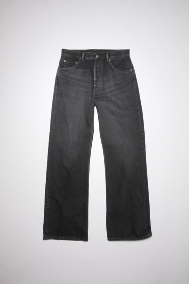 Acne Studios 2021M vintage black jeans are made from from rigid denim with a mid rise and a loose leg, cut to a relaxed, bootcut silhouette.